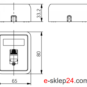 Gniazdo RJ45 natynkowe pojedyncze – Telegartner