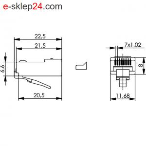 Wtyk RJ45 kat.6 – Telegartner