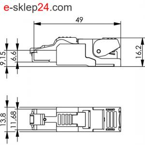 Wtyk RJ45 MFP8 kat.6A beznarzędziowy AWG22-27 – Telegartner