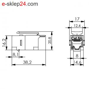 Łącznik f-f keystone RJ45 kat.6A ekran odlew- Telegartner