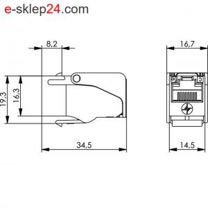 Gniazdo keystone RJ45 kat.5e beznarzędziowe – Telegartner