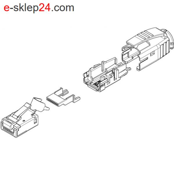 J80026A0001 - elementy wtyku RJ45 STX IP20 - Telegartner