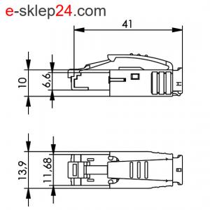 Wtyk RJ45 kat.6A STX IP20 – Telegartner