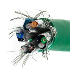 Kabel linka kat.7 S/FTP LSOH kolor zielony – Telegartner