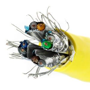 Kabel linka kat.7 S/FTP LSOH kolor żółty – Telegartner
