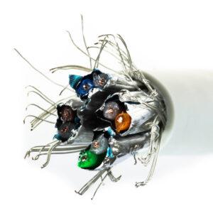 Kabel linka kat.7 S/FTP LSOH szary – Telegartner
