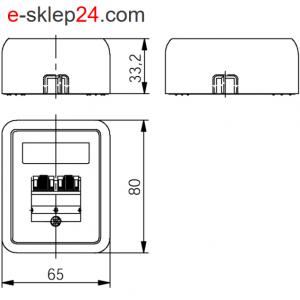 Gniazdo 2xRJ45 kat.6A naścienne podwójne – Telegartner