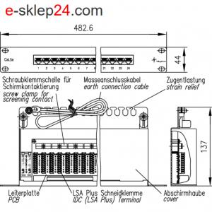 Patch panel 19″ 24xRJ45 kat.5e UTP- Telegartner