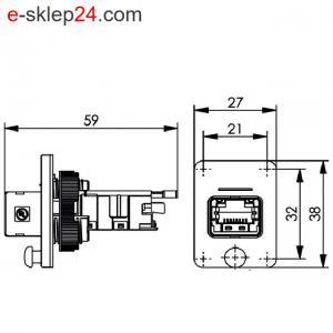 STX V4 gniazdo RJ45 6A IP67 – Telegartner