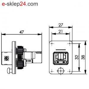 STX V4 łącznik RJ45-RJ45 6A IP67 – Telegartner