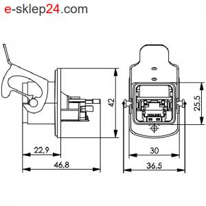 STX V5 gniazdo RJ45 6A IP67 ALU – Telegartner