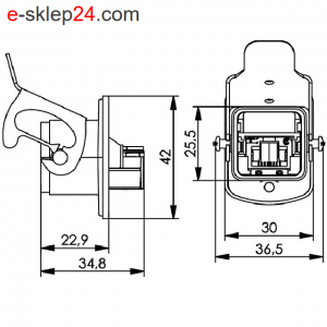 STX V5 łącznik RJ45-RJ45 6A IP67 ALU – Telegartner