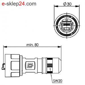 STX V1 wtyk RJ45 6A AWG22-26 IP67 – Telegartner