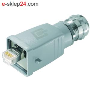 STX V5 wtyk RJ45 6A IP67 ALU AWG24-27 – Telegartner