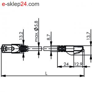 Patch Cord SF/UTP Cat.5 4x2xAWG26/7 PVC – Telegartner