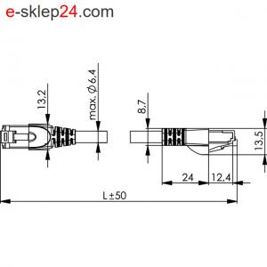 Patch Cord S/FTP Cat.6A 4x2xAWG 27/7 PVC – Telegartner