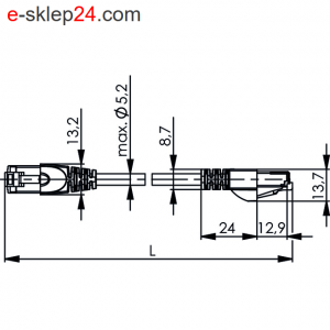 Patch Cord S/FTP Cat.6A 4x2xAWG30/7 LSZH – Telegartner