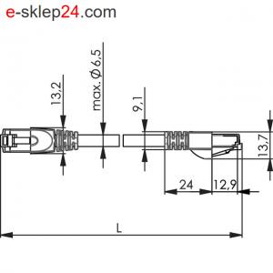 Patch Cord S/FTP Cat.6A 4x2xAWG 26/7 PE – Telegartner