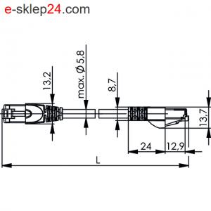 Patch Cord SF/UTP Cat.5 4x2xAWG 26/7 PUR – Telegartner
