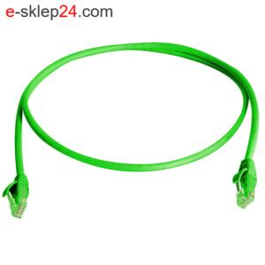 Patch cord UTP kat.5e 0,25m zielony – Telegartner