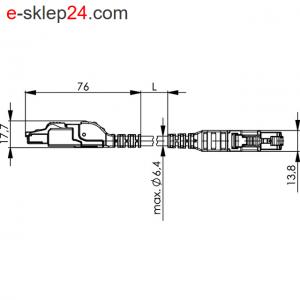 Patch Cord SF/UTP Cat.5 2x2xAWG22/7 profinet MFP8 PUR – Telegartner