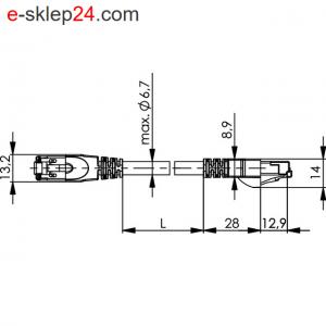 Patch Cord SF/UTP Cat.5 2x2xAWG22/7 profinet MP84C PUR – Telegartner
