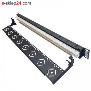 Patch panel 19″ 24xRJ45 kat.6 DG+ UTP 1U grafitowy – Molex