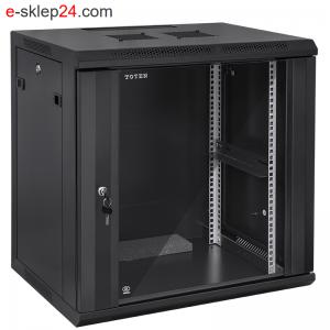 Szafa rack 12U 450 x 600 szara / czarna