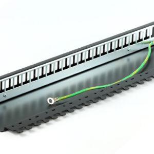 Patch panel 19″ niewyposażony 24p z półką – Telegartner