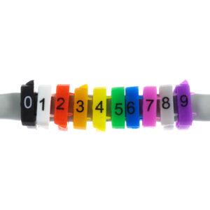 Oznaczniki do przewodów kolorowe oznaczenia 10 sztuk