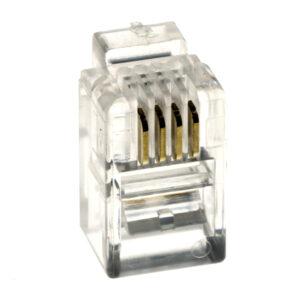 Wtyk 4P4C RJ-9 telefoniczny słuchawkowy – 10 szt.